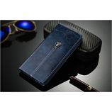Navy Blue Wallet Card Holder Luxury PU Leather Case For iPhone